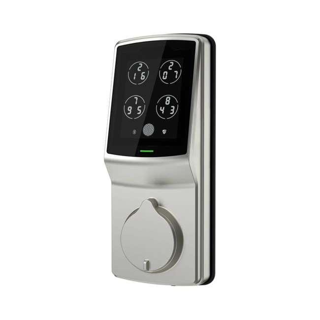 PGD728FSN + PGH200 Lockly Secure Plus Biometric Smart Deadbolt Lock, Nickel (2 Pack) w/ Door Sensor 2