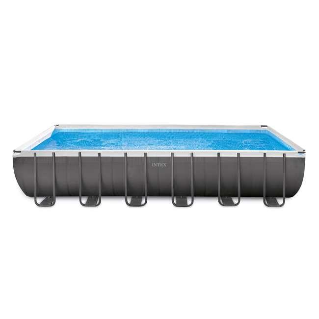 "26361EH + 2 x 58868EP + 58821EP Intex 24' x 12' x 52"" Ultra Frame Rectangular Swimming Pool Set 1"