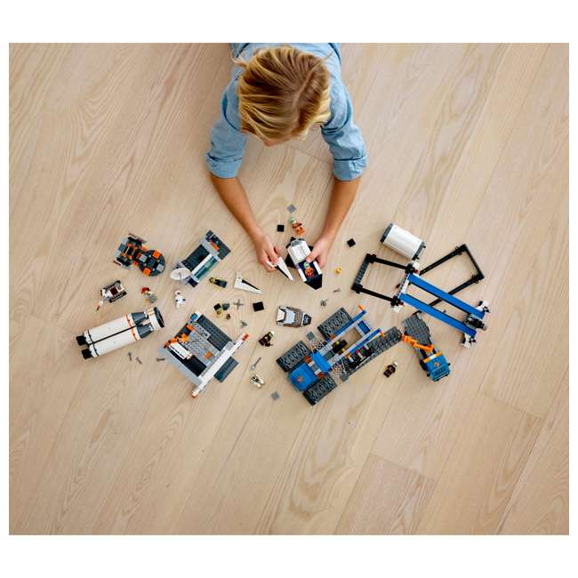 6251738 LEGO City Rocket Assembly & Transport 1055 Piece Building Kit w/ 7 Minifigures 1