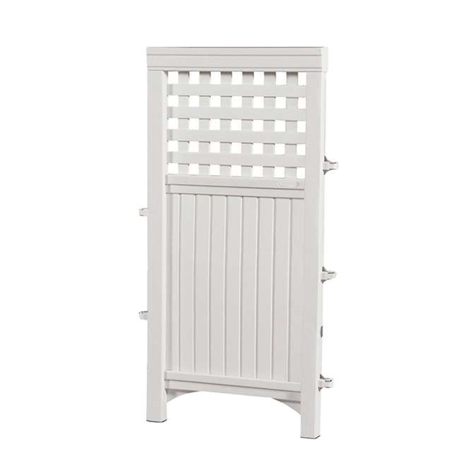 3 x FS4423D-U-B Suncast Garden Yard 4 Panel Screen Enclosure Gated Fence, White (Used) (3 Pack) 3