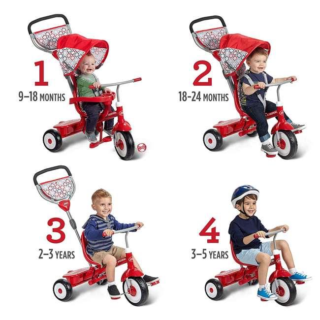 488A Radio Flyer Ultimate 4-in-1 Stroll 'N Trike Ride On, Red 4