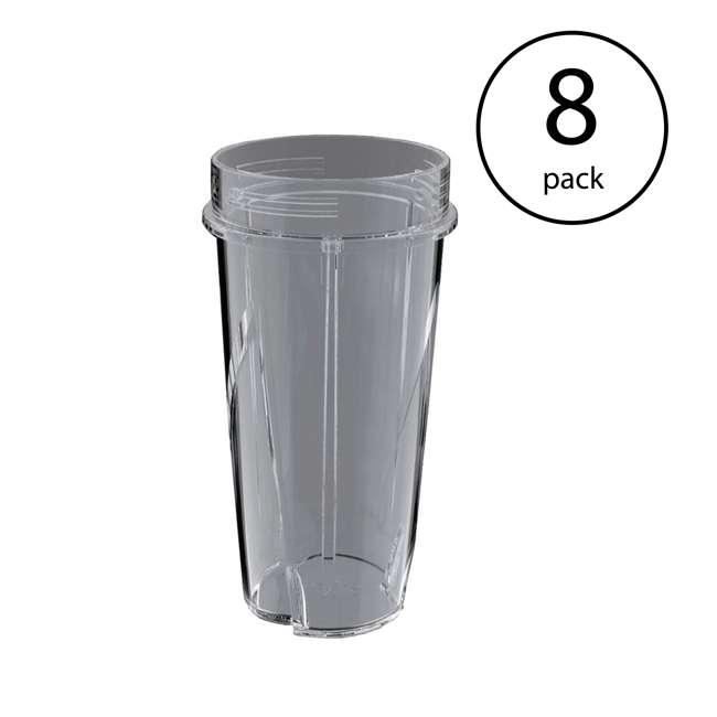 8 x 199KKU Ninja 16-Ounce Nutri Ninja Kitchen Pulse Blender Replacement Cup (8 Pack)