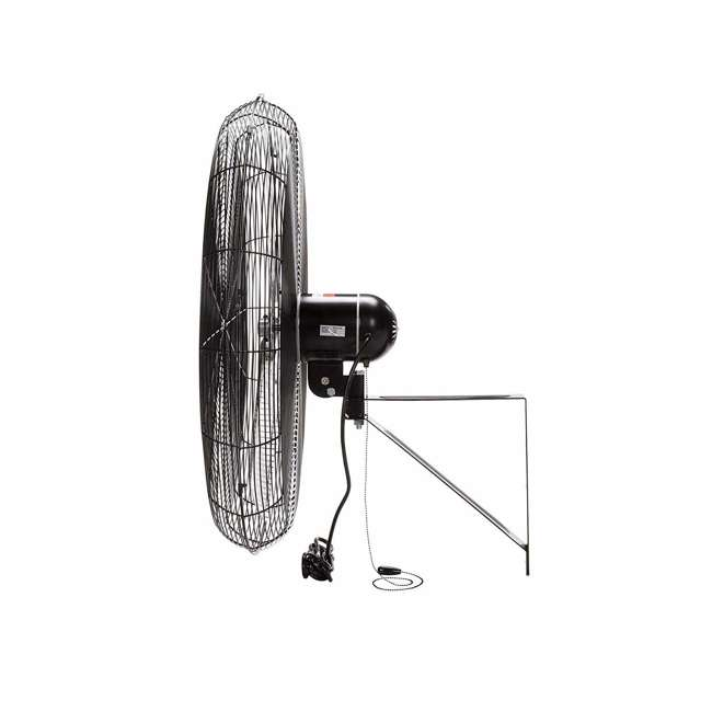 "CACU30W TPI Corporation 30"" 3-Speed Single-Phase Wall Mount Commercial Circulator Fan 2"