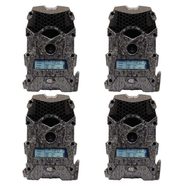 4 x WGI-M18B38D21-7 Wildgame Innovations Mirage 16 Lightsout 16MP Hunting Game Camera (4 Pack)