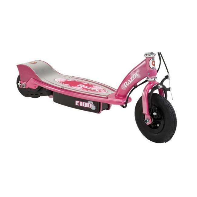 13111263 + 97783 Razor E100 Electric Scooter (Sweet Pea) with Youth Helemet (Pink) 3