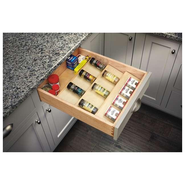 "4SDI-18-U-A Rev A Shelf 18"" Wood Spice Kitchen Drawer Insert, Maple  (Open Box)  (2 Pack) 2"