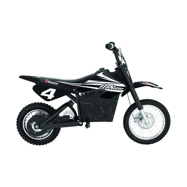 15128008 + 15165001 Razor MX400 & MX650 Electric Toy Motocross Motorcycle Dirt Bike, White & Black 7