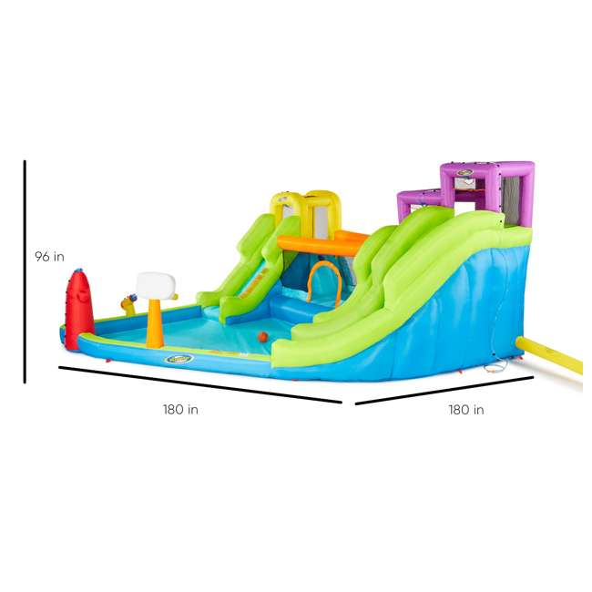 MTI-90717 RipTide Triple Fun Inflatable PVC Water Park with 3 Slides & Obstacle Course 2
