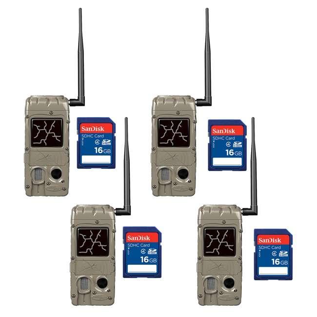 4 x G-5055-CL-DUAL20 + 4 x SD4-16GB-SAN Cuddeback Cudde Link 20 MP Game Trail Camera + 16GB SD Card (2 Each)