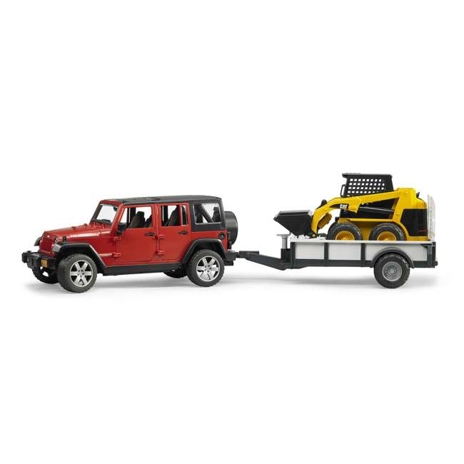 02925-BR Bruder Toys Jeep Wrangler Unlimited Rubicon with Cat Loader
