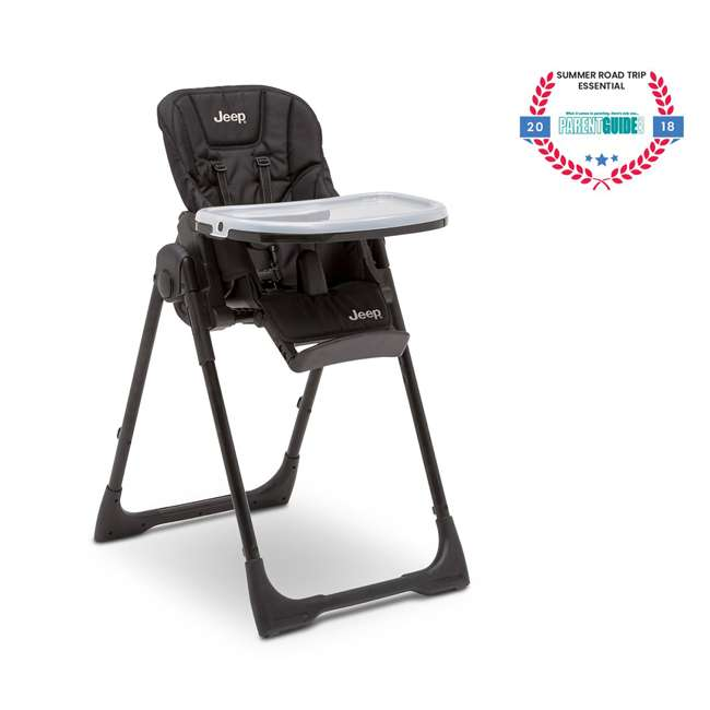 25008-2013 Jeep Classic Convertible Foldable High Chair for Babies and Toddlers, Black