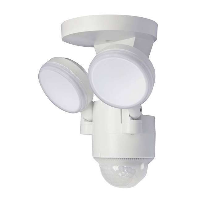 LP-1803-WH-C IQ America LP-1803-WH Twin Wall Mounted Motion Sensing LED Flood Light, White (2 Pack) 2