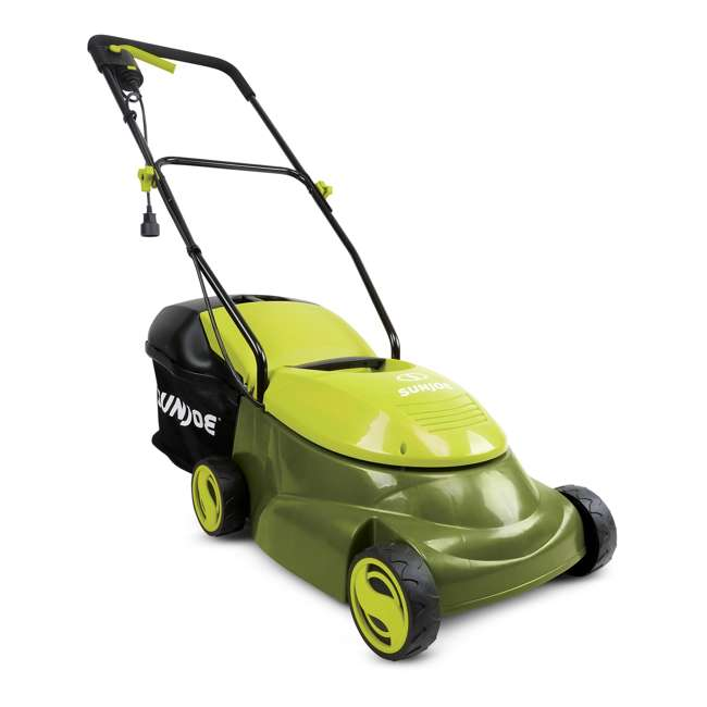 SUJ-MJ401E Sun Joe MJ401E 14 Inch 12 Amp Electric Push Lawn Mower, Green