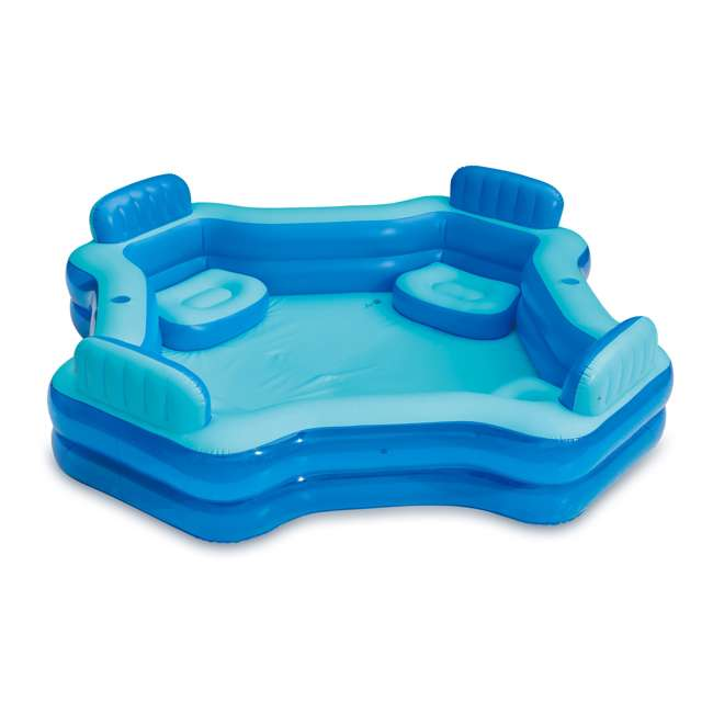 KB0706000167 Summer Waves Inflatable 4 Person Deluxe Comfort Pool