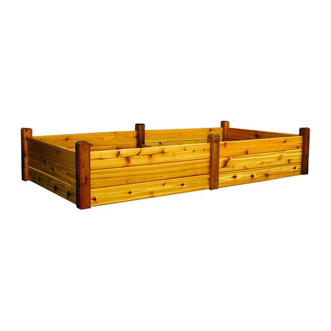 RGBT 48-95S Gronomics Western Red Cedar Raised Garden Bed 48 x 95 x 19 Inches, Finished