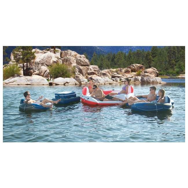 6 x 56296CA-U-A Intex Marina Breeze Island Lake Raft with Built-In Cooler (Open Box) (6 Pack) 4