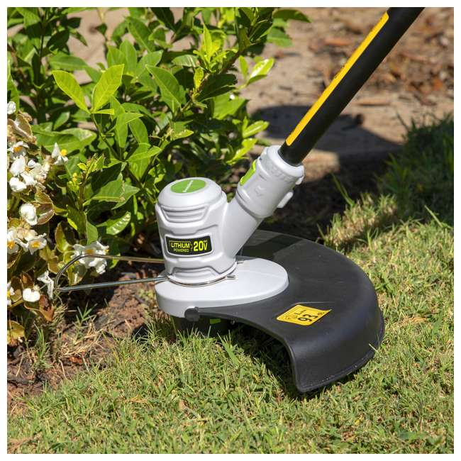 PGT120 + PLB12040 PowerSmith 20V Max Cordless Battery Powered Lawn String Trimmer w/ Extra Battery 8
