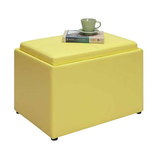 R8-160 Convenience Concepts R8-160 Designs4Comfort Accent Storage Space Ottoman, Yellow 3