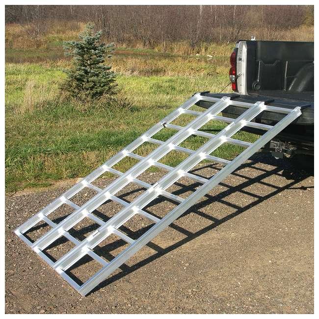 YUTX104 Yutrax TX104 XL 78 Inch 1750 Pound Aluminum Truck Bed ATV Loading Ramp (2 Pack) 2