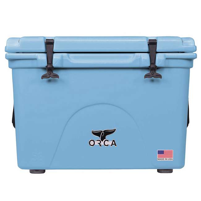ORCLB058 Orca ORCLB058 58 Quart 72 Can Roto Molded Insulated Ice Chest Cooler, Light Blue
