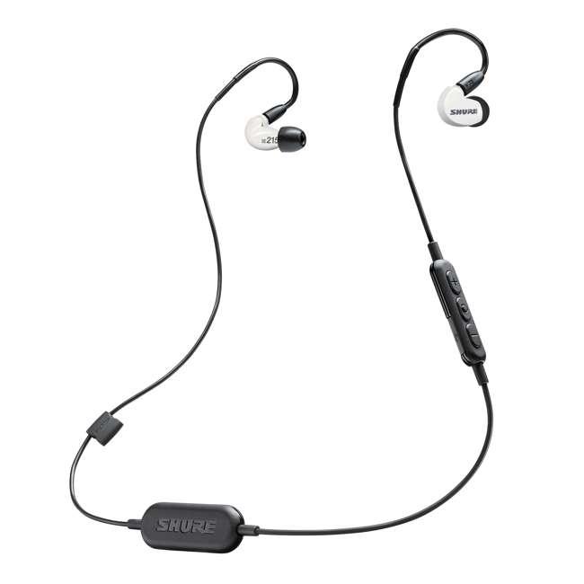 6 x SE215SPE-W-BT1 Shure Sound Isolating MicroDriver BT Earphones, White (6 Pack) 2
