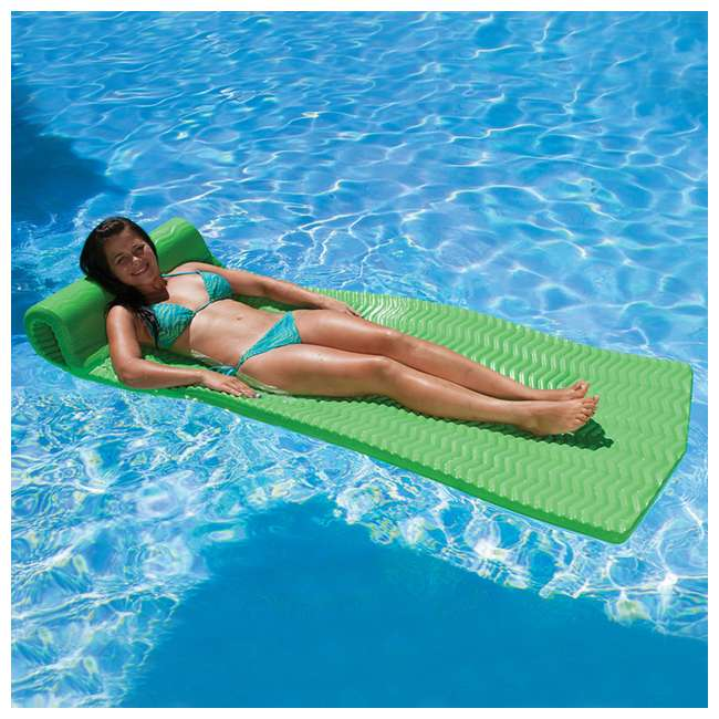 70758-U-A Poolmaster Soft Tropic Comfort Pool Lounger Mattress Float, Lime Green(Open Box) 4
