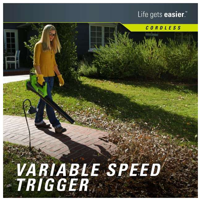 GW-24292 Greenworks 40 Volt Battery Powered Cordless Hedge Trimmer and Leaf Blower Combo 3