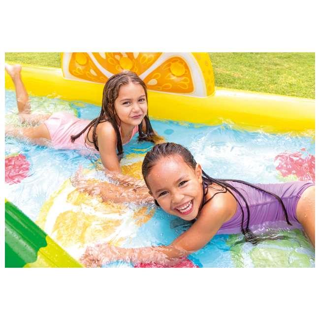 57158EP Intex 57158EP Fun'N Fruity Outdoor Inflatable Kiddie Pool Play Center with Slide 5