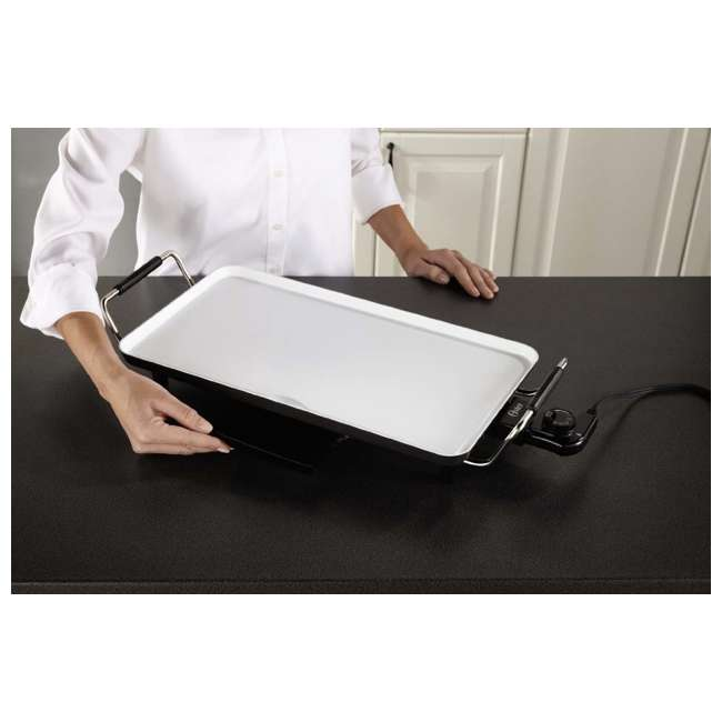 CKSTGR18WC-ECO Oster DuraCeramic Griddle with Drip Tray 4