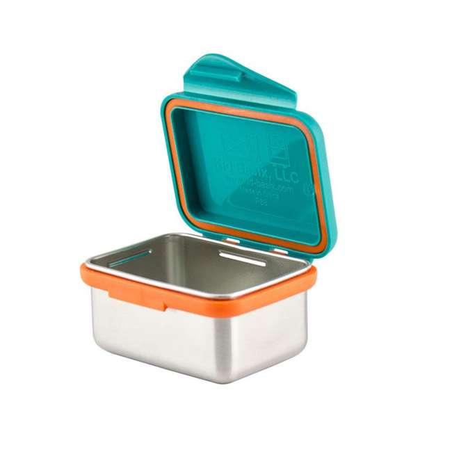 796515002867 + 796515002737 + 796515002836 Kid Basix Safe Snacker 23oz Stainless Steel Lunch Box + 7oz and 13oz Containers 4