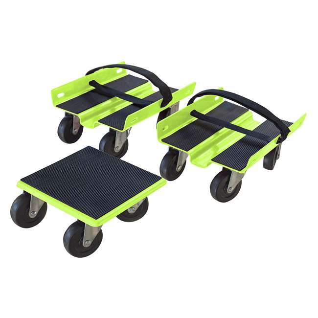 BFT-SMD1500 Black Byll 1500 Pound Max Snowmobile Dolly Set, Green