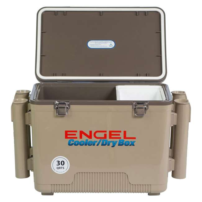 4 x UC30T-RH Engel Coolers 30-Quart Insulated Cooler Drybox with 4 Rod Holders (4 Pack) 1