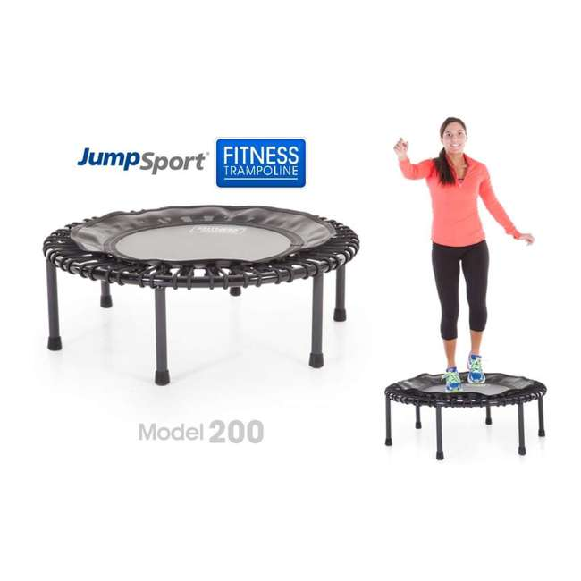 RBJ-S-20820-01 JumpSport 200 In Home Cardio Fitness Rebounder Mini Trampoline and DVD, Black 1
