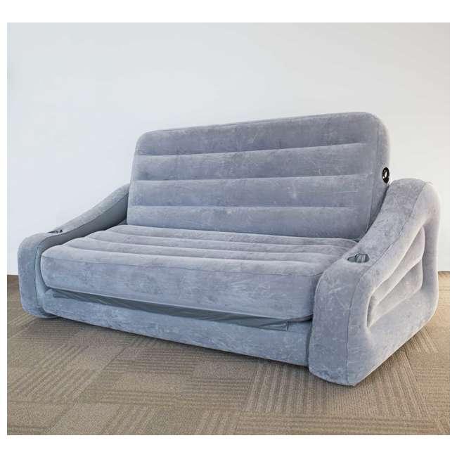 68566VM + 66641E Intex Inflatable Sofa and Air Mattress with Electric Air Pump 5