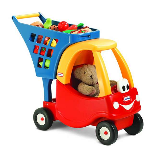 618338M Little Tikes Cozy Coupe Kids Grocery Shopping Cart, Red (2 Pack) 4