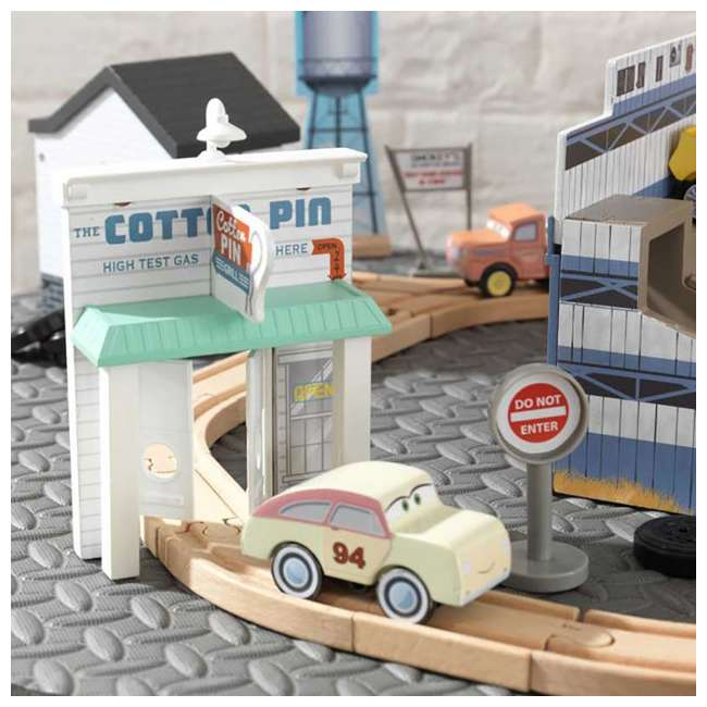 KDK-18015-U-A Kidkraft Disney Pixar Cars 3 50 Piece Thomasville Speedway Track Set (Open Box) 3