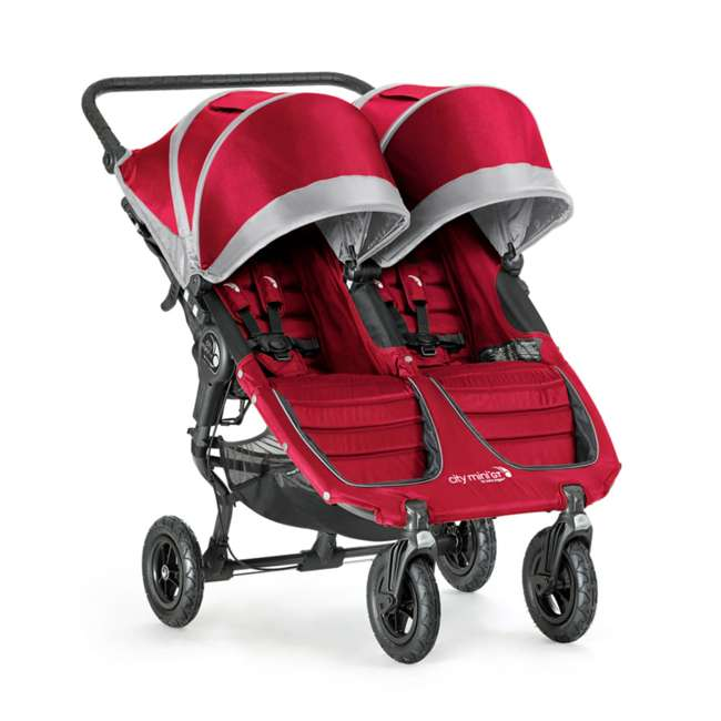 1959387 Baby Jogger City Mini GT Double Stroller, Crimson/Gray