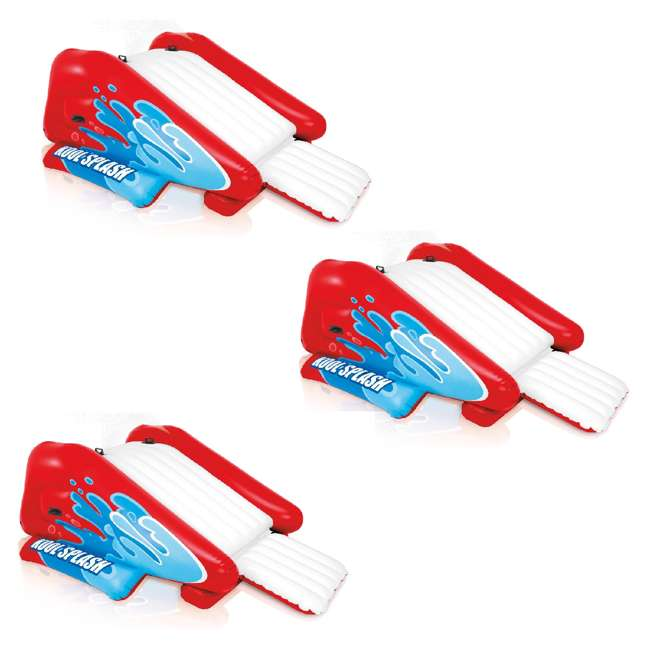 3 x 58849VM Intex Kool Splash Inflatable Slide Play Center with Sprayer, Red (3 Pack)