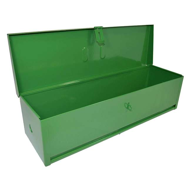RE-102423 RanchEx Steel 16 Inch Portable Mounting Tool Box for Vehicles Green 1