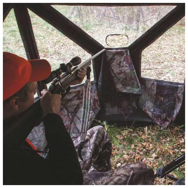 BARR-PT550BT Barronett Blinds Pentagon Large Ground Hunting Hub Blind in Blood Trail Camo 7
