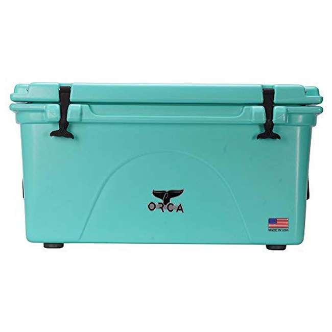 ORCSF075 Orca ORCSF075 75 Quart 15 Gallon Roto Molded Insulated Outdoor Cooler, Seafoam