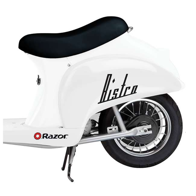 15130608 + 97778 + 96784 Razor Pocket Mod 24V Electric Retro Scooter, Kids Helmet, & Elbow & Knee Pads 4