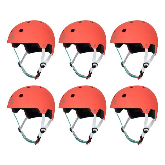 6 x T8-3067 Triple 8 Dual Certified Skate and Bike Helmet with EPS Liner, S/M (6 Pack)