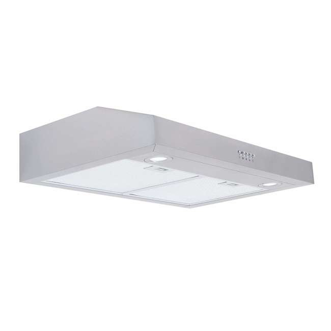 COS-5U30 Cosmo COS-5U30 30 Inch Under Cabinet Range Hood w/ Push Control, Stainless Steel 1