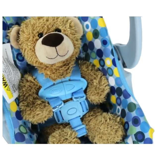 JVY-003 Joovy Toy Doll Pretend Play Children Car Seat, Blue Dot 2