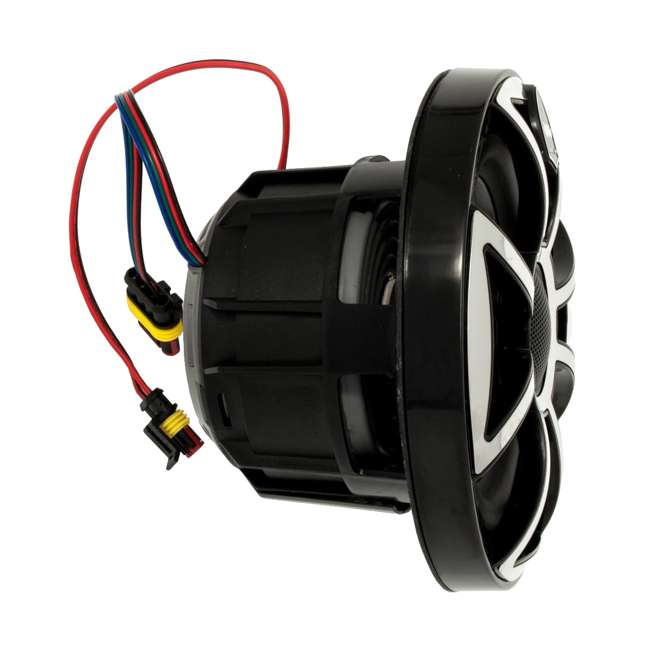 "REVO-6-XSG-SS-U-C Wet Sounds 6.5"" 200W Gunmetal LED Coaxial Full Range Marine Speakers (For Parts) 3"