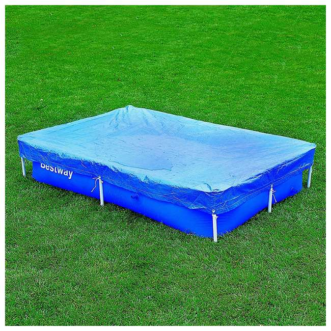 "58103-BW-NEW-U-A Bestway Flowclear 7'4""x60"" Floating Above Ground Pool Cover (Open Box) (2 Pack)"