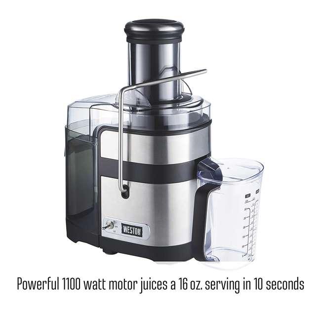 67902 Weston 67902 1,100 Watt 3.5 Inch Super Chute Fruit Extractor Automatic Juicer 1