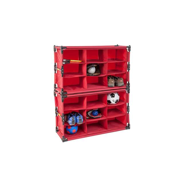 4 x RSF-TP-RB Origami 9-Cube Storage Organizer Shelf, Red (8 Pack) 4