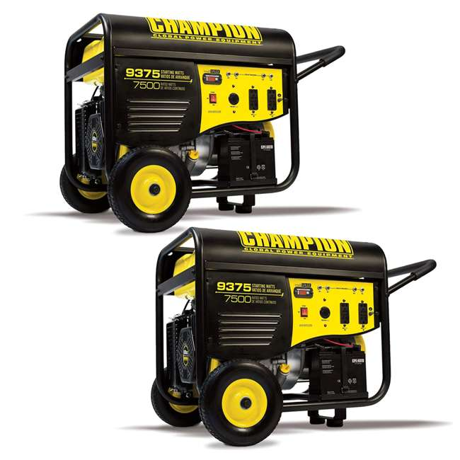 CPE-GN-100219 Champion 7500-Watt Portable RV-Ready Gasoline Generator (2 Pack)